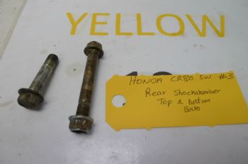 HONDA CR80 BIG WHEEL  REAR SHOCK ABSORBER TOP AND BOTTOM BOLTS #3(CON-A)